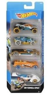 Pacote Com 5 Carrinhos Hot Wheels Originais Sortidos Mattel