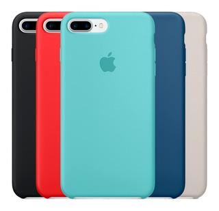Capa Silicone C/ Logo Apple iPhone 6 6s 7 8 Plus X Xr Xs Max