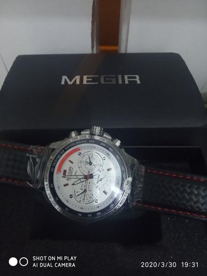 Megir Casual Fashion Man Quartz Wristwatch Brand Waterproof
