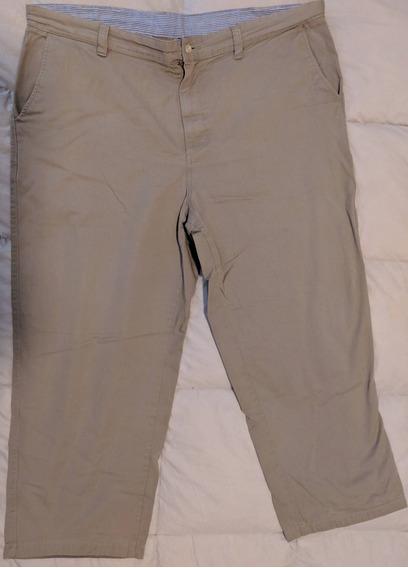 Pantalón Hombre De Vestir Gabardina Pinzado 54 Xxl