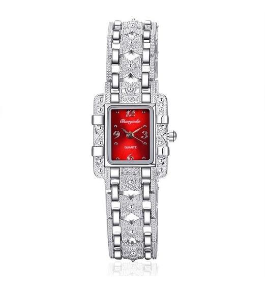Relógio Fino Feminino De Pulso Chaoyada Prata