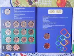 Álbum De Moedas Das Olimpíadas Completo Com As 16 Modalidade