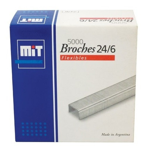 Broche Mit Para Abrochadora 24/6 X 5000 Broches Ganchitos
