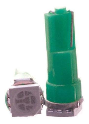 Imagem 1 de 1 de Lâmpada Led T5 12v 1smd5050 Verde 10 Unidades