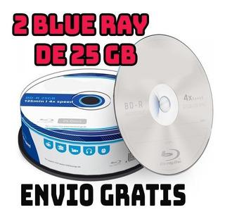 Blue Ray De 25 Gbs 2 Pcs. 135 Min