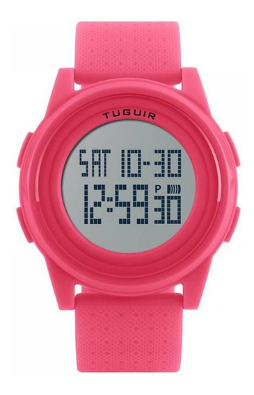 Relógio Feminino Rosa Tuguir Digital Original + Nf 150