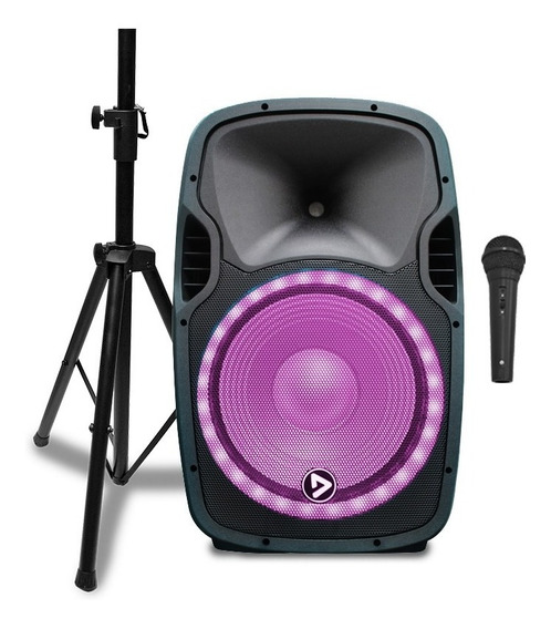 Parlante Activo Bt Led Playpro 15musicxtreme Combo Trípode