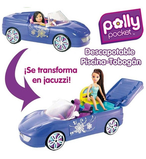Carro Descapotable Con Piscina Y Tobogán De Polly Pocket