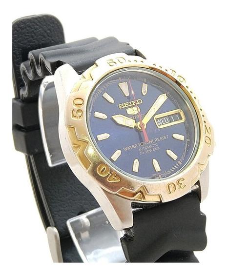 Relógio Seiko 5 Sports 7s36-0664 Azul. Lindo Perfeito Estado