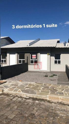 Casa Com 3 Dormitórios À Venda, 61 M² Por R$ 219.000,00 - Nossa Senhora Das Graças - Caxias Do Sul/rs - Ca0210