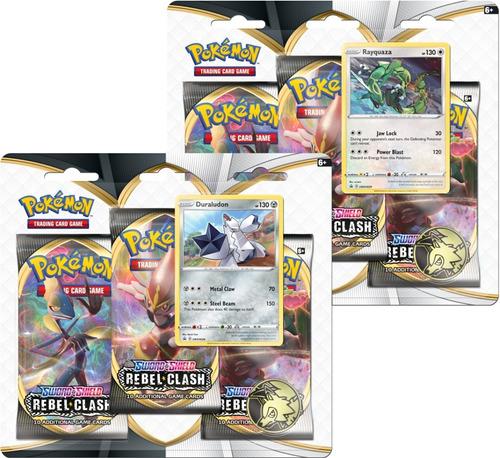 Kit Quadruplo Pack Pokemon Rayquaza Duraludon Espada Escudo