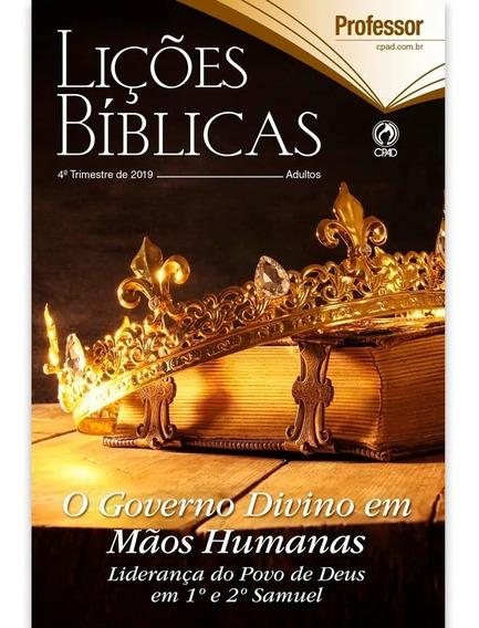 Revista Lições Bíblicas Professor 4º Trimestre 2019