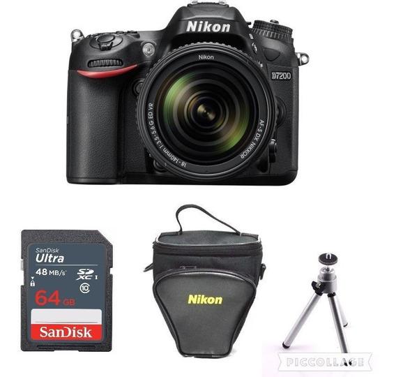Câmera Nikon D5600 C/ 18-140mm + 64gb + Tripé + Tripé