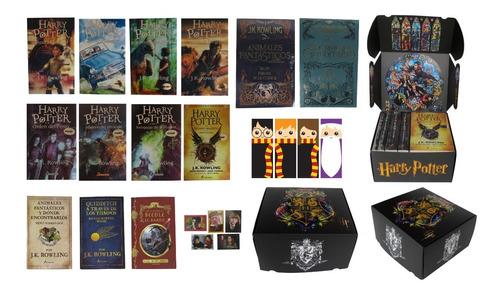 Imagen 1 de 7 de Colección Harry Potter 13 Libros Con Caja + Regalos Físicos