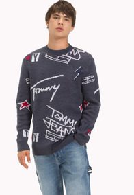 Tjm Signature Sweater - Tommy Jeans - 1218987 - Gris