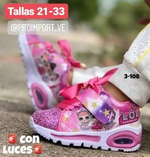Tenis Lol Para Niñas Con Luces Moda Colombiana