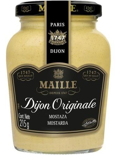 Imagem 1 de 3 de Mostarda Francesa Maille Dijon Original 215g