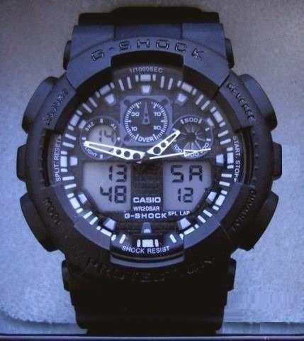 Relógio Ga 100 Preto Fosco