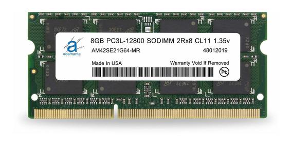 Memoria Ram 8gb Adamanta (1x8gb) Upgrade Compatible Para Hp Elitebook Pavilion Probook Zbook Ddr3l 1600mhz Pc3l-1