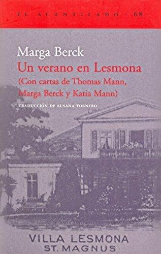 Imagen 1 de 3 de Un Verano En Lesmona, Marga Berck, Acantilado
