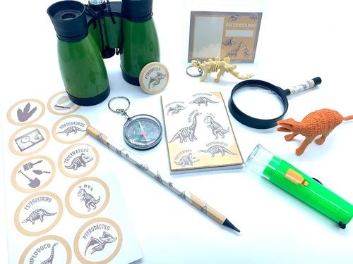 Imagem 1 de 6 de Super Kit Dinossauros Paleontólogo Explorador 11 Itens