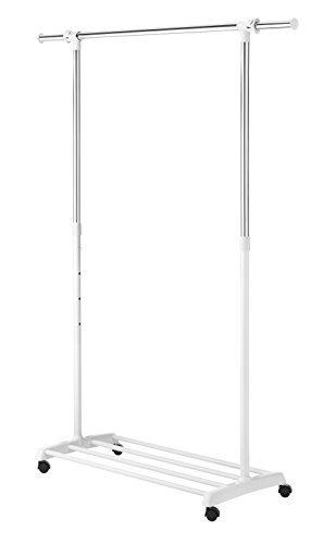 Whitmor Deluxe  Vestidor Regulable Color Blanco Cromado Con
