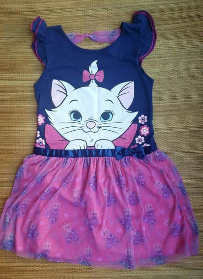 Vestido Disney Gatinha Mary Lindíssimo Saia Tule 10 Anos