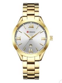 Relógio Feminino Banhado A Ouro ( Frete Grátis)