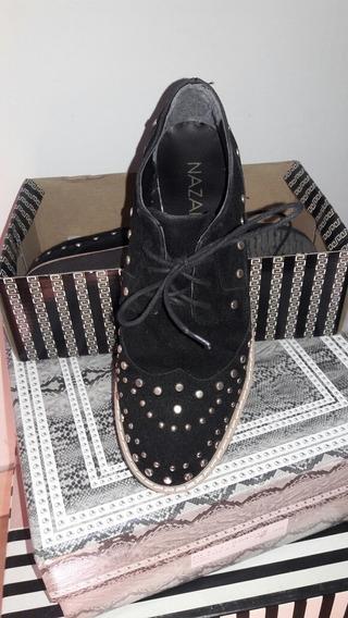 Nazaria/zapatos Con Tachas Y Cordón Talle 37