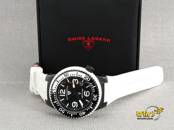 Swiss Legend Neptune Swiss 21848 - Unisex Black White 48mm