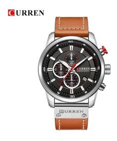 Relógio Masculino Original Curren Cronógrafo Couro Promoção