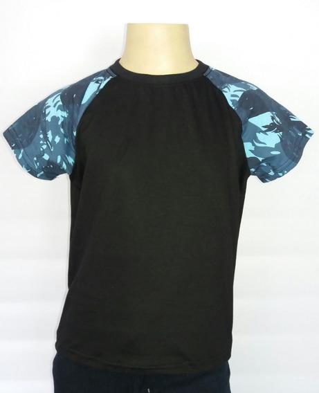 Camiseta Infantil Raglan