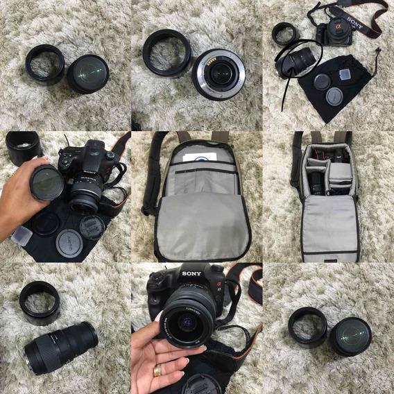 Câmera Sony Alpha 65 Com Lentes! Kit Ideal E Melhor Preço!