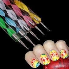 Set De Uñas Deco. 12 Cintas Nails+5 Dotting+1 Sello Stamping