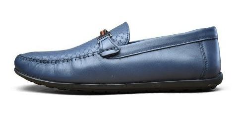 Zapato Karosso Kasual 10101 Azul Ultramar Atanado