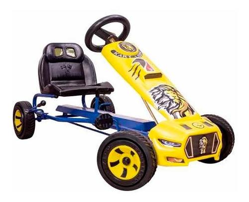 Carro De Pedales Montable Azul Go Kart Niños Bici