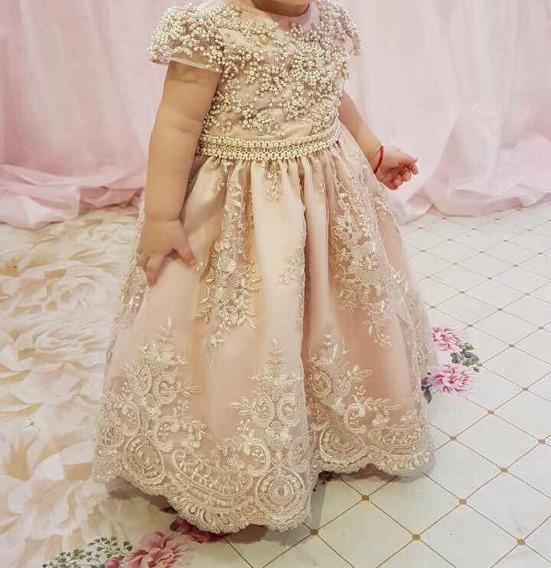 Vestido De Festa Infantil Bordado A Mão