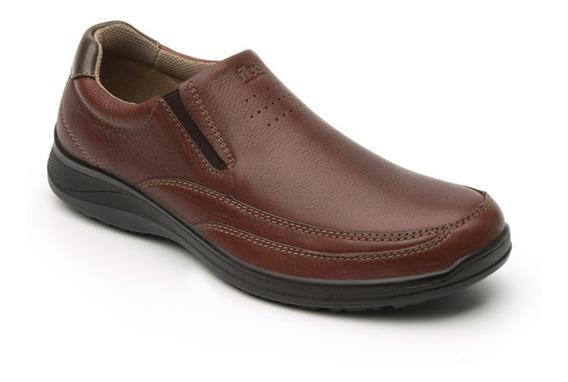 Zapato Cerrado Casual Caballero 50808 Flexi Nogal