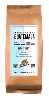Cafe De Especialidad Grano Tostado Guatemala Barista 1/4 Kg