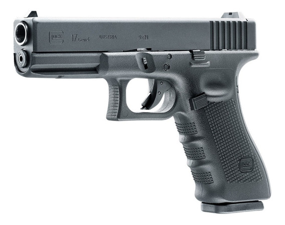 Glock 17 Gen 4 Co2 Retroceso Postas 4.5mm Acero Tiro