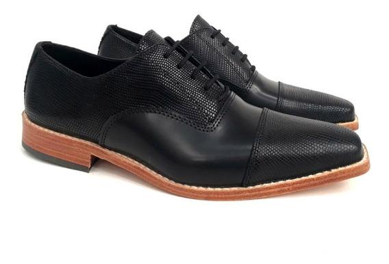 Zapato Cuero Hombre Fino Vestir Base Suela Puerto Blue