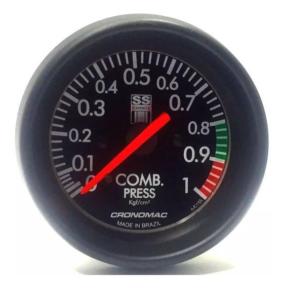 Manômetro Pressão Combustivel Cronomac 60mm Gm Ss Series 1kg