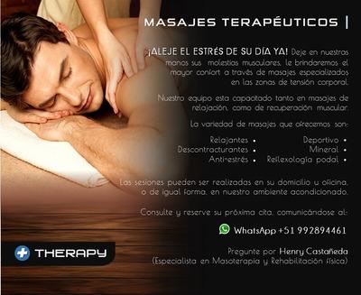 Masajes Relajantes Y Terapéuticos