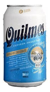 Cerveza Quilmes Lata 354 Ml Clasica Bebida Unidad 01almacen