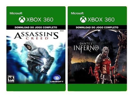 Assassin´s Creed + Dante´s Inferno-xbox 360 / Midia Digital