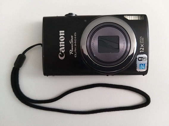 Câmera Canon Powershot Elph 340 Hs, Wi-fi, 12x Zoom.