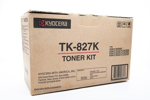 Imagen 1 de 3 de Toner Tk-827k Kyocera Original Para Km-c2520 /c2525e/ C3225