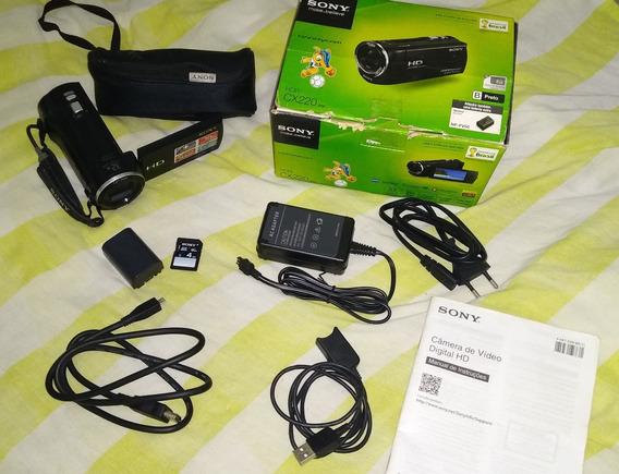 Sony Handycam Hdr-cx220 Full Hd Na Caixa, Completa, Perfeita