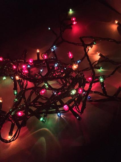 100 Luces Arroz 4 Metros Navidad Arbolito Color Multicolor