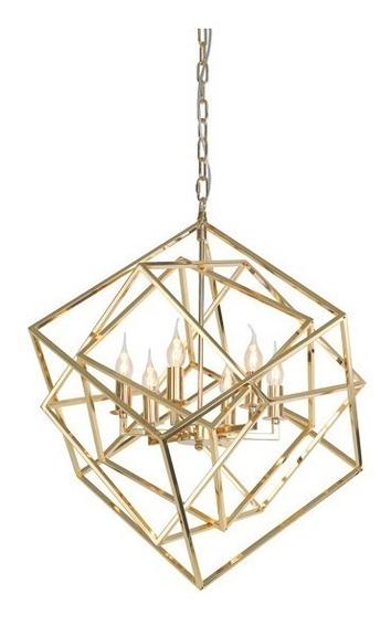 Pendente Dourado Km0282p-6 Starlux